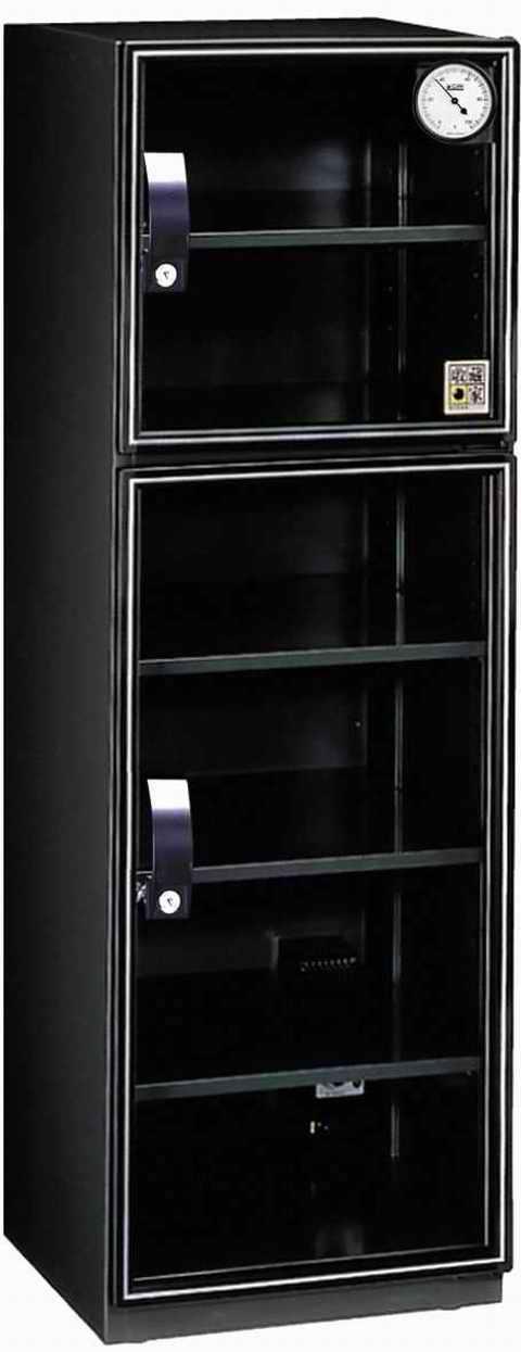 弘瀚科技收藏家 AX-180 雙門六層美背式電子防潮箱《163公升》