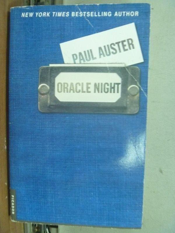 【書寶二手書T3/原文小說_IQU】Oracle Night_Pual Auster