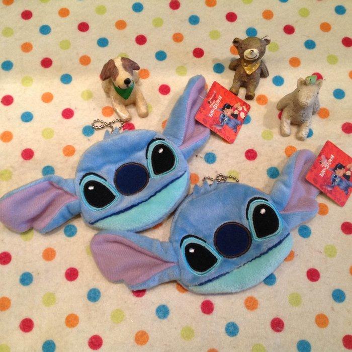 =優生活=【現貨出清】迪士尼星際寶貝史迪奇刺繡迷你小錢包 零錢包 吊飾