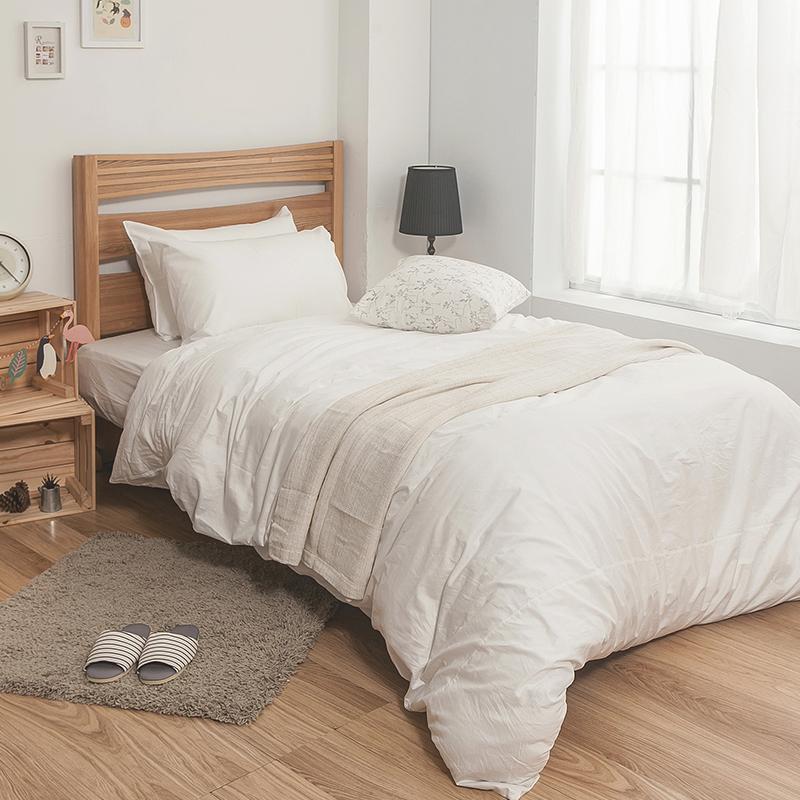 床包被套組 / 雙人特大-100%精梳棉【素色系列-白色】含兩件枕套,戀家小舖,台灣製SS01-AAA512