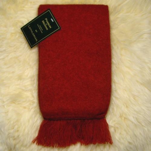紐西蘭貂毛羊毛圍巾*南瓜紅