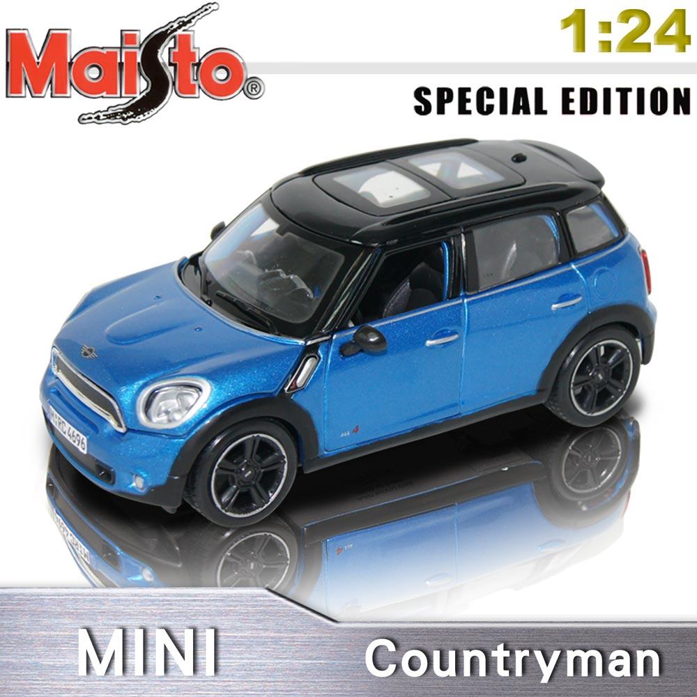 【Maisto】MINI Countryman《1/24 》合金模型車 -藍色