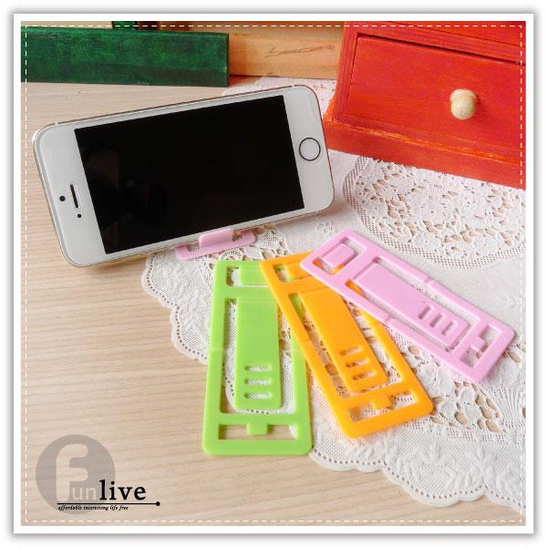 【aife life】名片折疊手機架-小/卡片 手機架/可調式 手機架/卡片集線器/固定架/手機座/手機支架