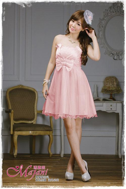 [瑪嘉妮Majani]- 甜美 氣質 大尺碼小禮服 伴娘服 宴會 約會 L~3XL 特價590元免運 ld-013