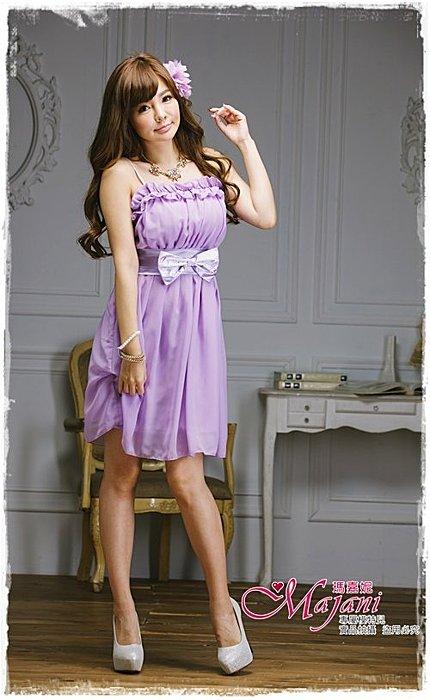 [瑪嘉妮Majani]- 甜美 氣質 大尺碼小禮服 伴娘服 宴會 約會 L~3XL 特價590元免運 ld-042
