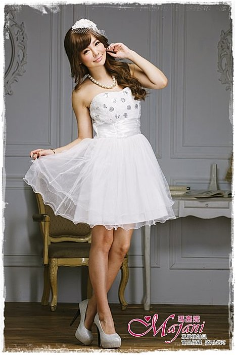 [瑪嘉妮Majani]- 甜美 氣質 大尺碼小禮服 伴娘服 宴會 約會 L~3XL 特價590元免運 ld-111