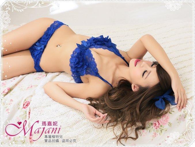 [瑪嘉妮Majani]日系中大尺碼比基尼情趣內衣-夢幻芭蕾(藍) 特價199元(套) 現貨 sc-043