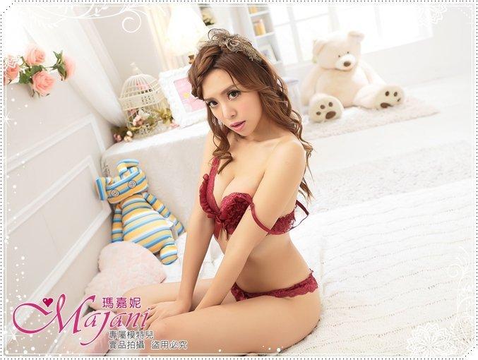 [瑪嘉妮Majani]日系中大尺碼比基尼情趣內衣-夢幻芭蕾(玫瑰紅) 特價199元(套) 現貨 sc-047