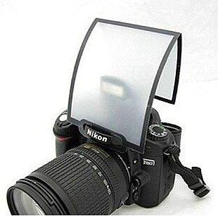 攝彩@通用型單眼相機 內閃 閃光燈 專業通用型摺疊式閃光燈 硬式柔光罩 柔光片-21011