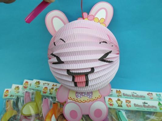 小兔燈籠 兔年燈籠 Q版十二生肖造型紙燈籠(兔子造型/附電池)/一個入{促99}