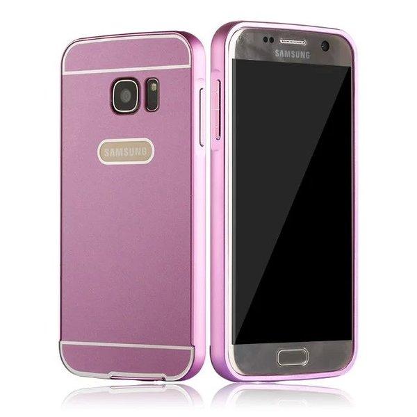 三星S7/S7 Edge金屬殼 金屬邊框+壓克力背板二合一手機殼 三星Galaxy S7 Edge G9350 PC背蓋 保護殼 S7 G93005手機套