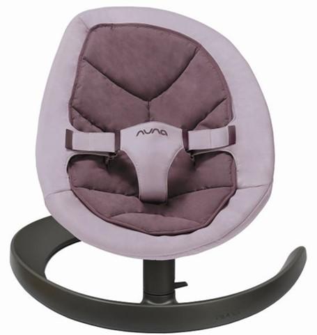 NUNA - Leaf Curv搖搖椅 (葡萄紫) 贈品牌手提袋+可愛玩偶吊飾,費雪聲光安撫長頸鹿!
