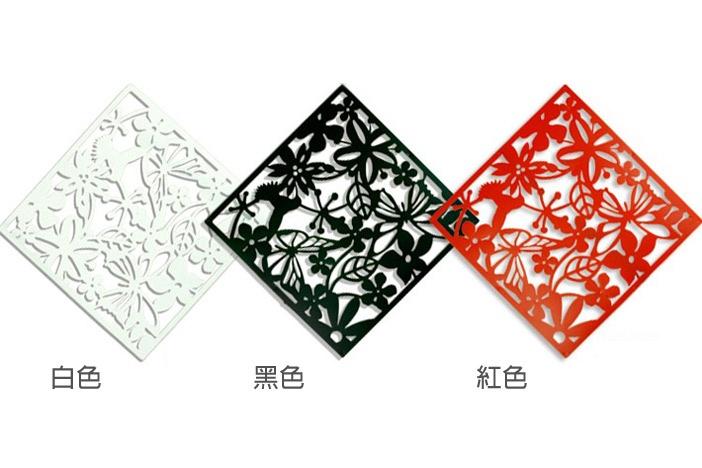 *GouQu* 百變創意花紋屏風 雕花鏤空掛式屏風 壁貼 牆貼 單片