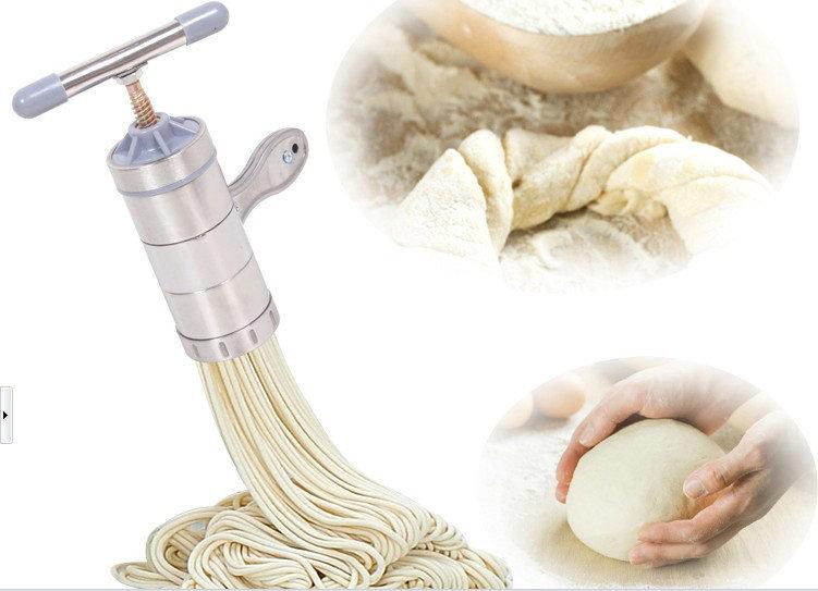 *GuoQu* 立麥正品 (2種壓模) 不銹鋼立麥麵條機 家用手動壓麵機 壓麵機 壓麵器 製麵器 製麵機 不銹鋼麵條機可當榨汁機