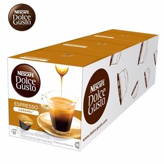 雀巢 新型膠囊咖啡機專用 義式濃縮焦糖咖啡膠囊 (一條三盒入) 料號 12244487 ★微苦咖啡伴隨焦糖香氣