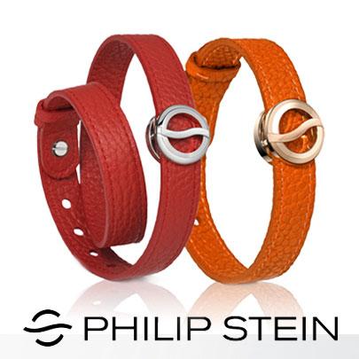 【Philip Stein】翡麗詩丹能量手環-【經典紅/橘】睡眠手環/運動手環|岱宇國際總代理