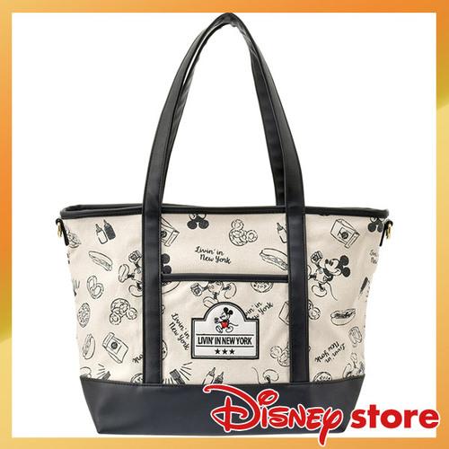 【真愛日本】FASHION-NYNY系列皮革手提肩包-米奇白    迪士尼 米老鼠米奇 米妮   背包  包包