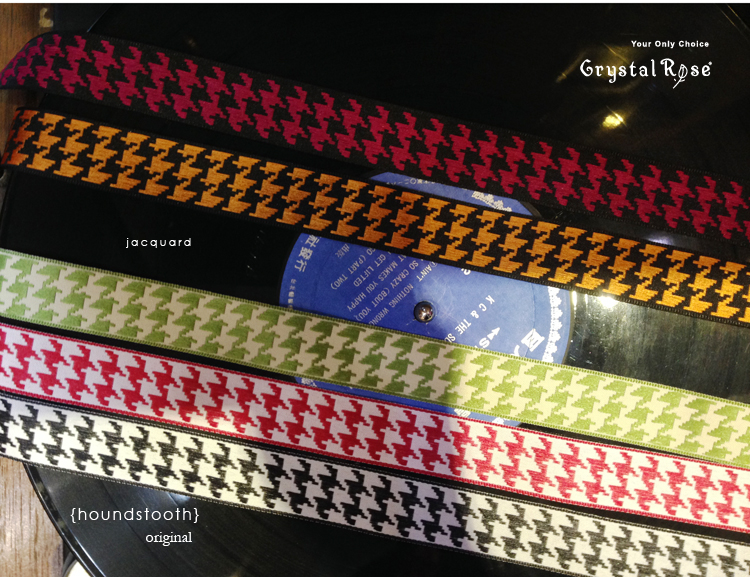 【Crystal Rose緞帶專賣店】千鳥格紋緞帶 22mm 3碼 (8色)