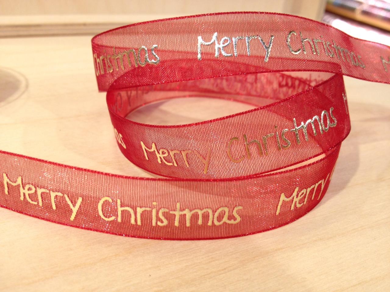 聖誕緞帶Merry Christmas(4色)