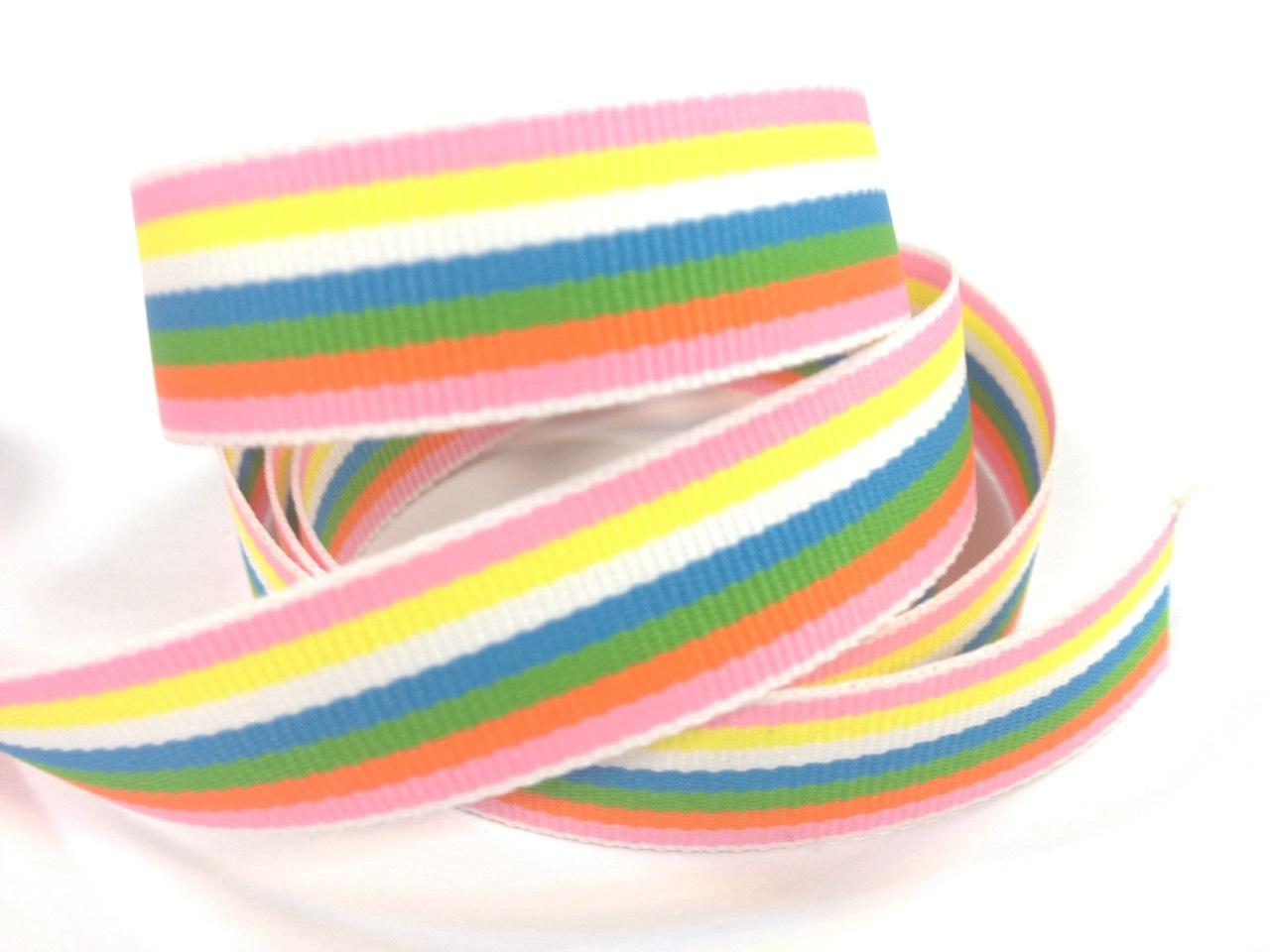【Crystal Rose緞帶專賣店】彩虹平織帶