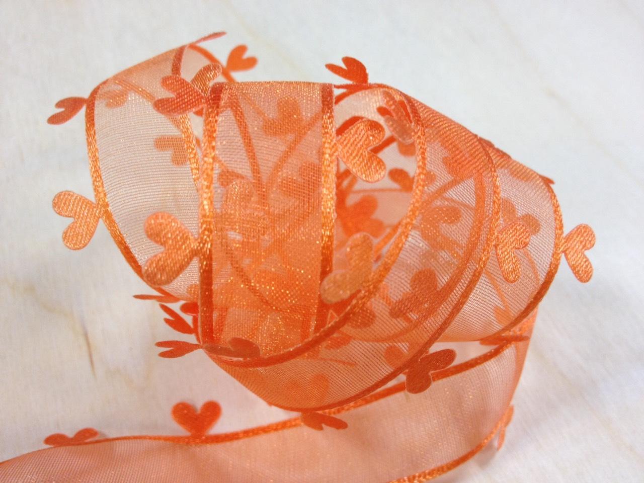 【Crystal Rose緞帶專賣店】壓邊愛心緞帶 27mm 3碼 (11色)