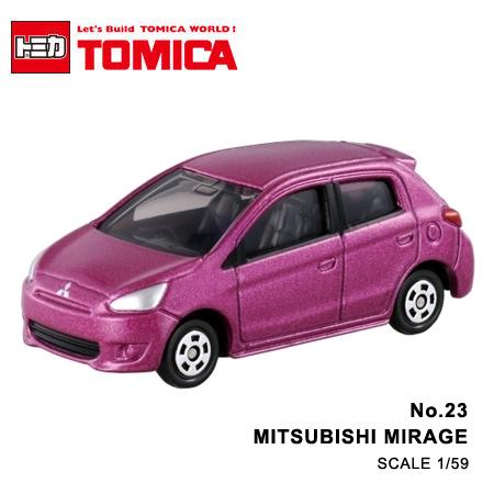 日貨 TOMICA No.23 MITSUBISHI MIRAGE 三菱 真車系列 汽車模型 多美小汽車【N201330】