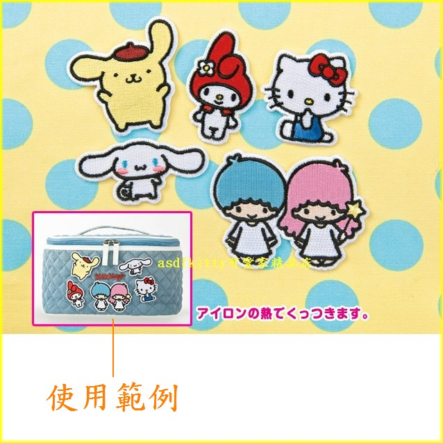 asdfkitty可愛家☆SANRIO 燙布貼 布丁狗下標頁-可燙貼在衣服或布料包包上-日本正版商品