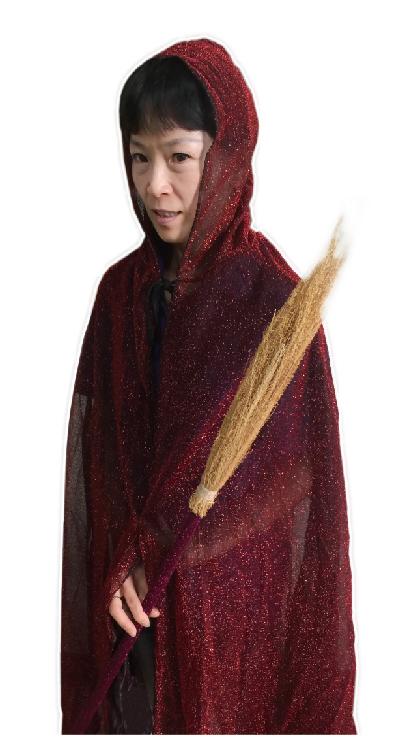 X射線【W397417】連帽亮絲披風(紅),化妝舞會/角色扮演/尾牙/表演/萬聖節/聖誕節/兒童變裝/巫婆/宗教儀式/道具/吸血鬼