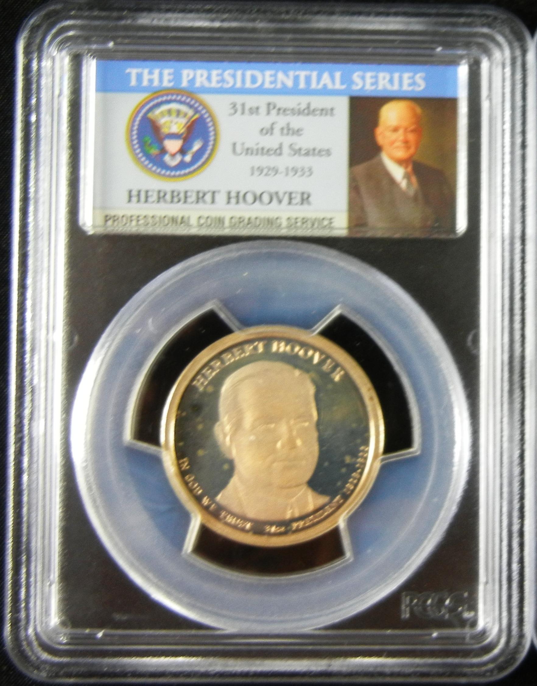 美國第31任總統Herbert Hoover一元精製硬幣-完美等級