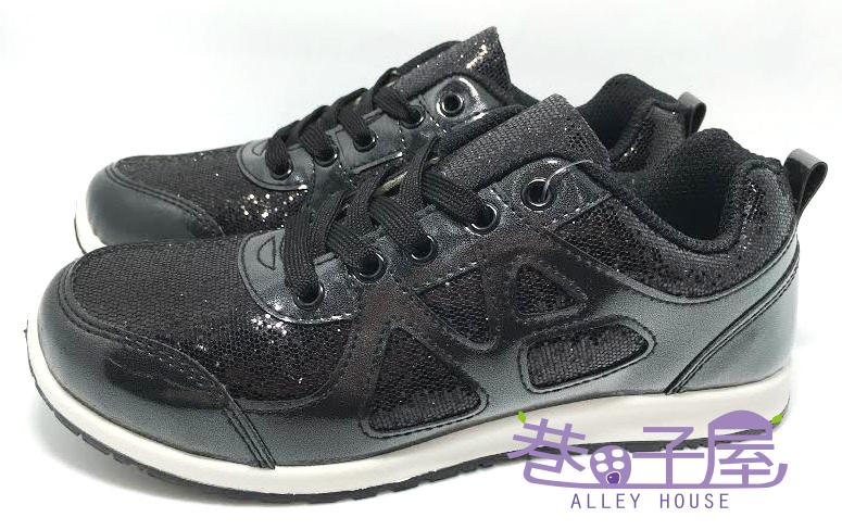 【巷子屋】Wenies PoLo 女款韓版亮片運動休閒鞋 [3361] 黑色 MIT台灣製造 超值價$298
