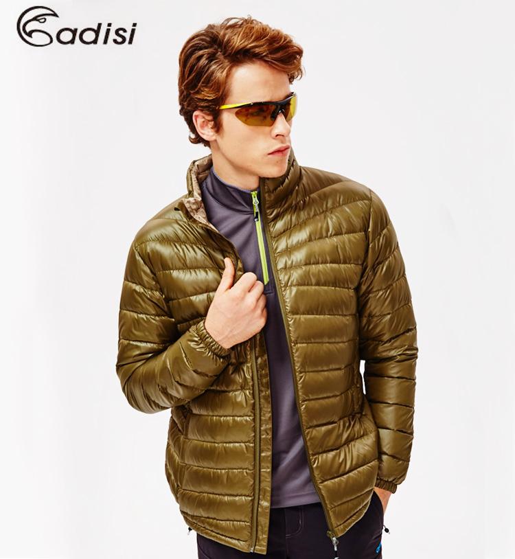 ADISI 男超輕量潑水羽絨外套AJ1521001(S~3XL) / 城市綠洲專賣(防潑水、超輕量羽絨、機能性布料)