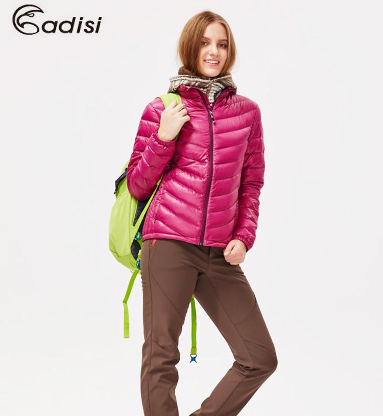 ADISI 女超輕量潑水羽絨外套AJ1521003(S~2XL) / 城市綠洲專賣(防潑水、超輕量羽絨、機能性布料)