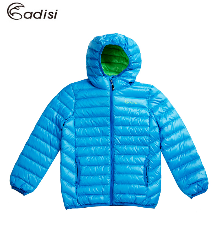 ADISI 童超輕量潑水羽絨連帽外套AJ1521006(120~160cm) / 城市綠洲專賣(防潑水、超輕量羽絨、機能性布料)