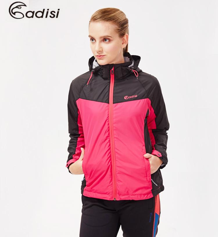 ADISI 女天鵝絨防潑水防風保暖可拆式連帽外套AJ1521054(S~2XL) / 城市綠洲專賣(防潑水、超輕量羽絨、機能性布料)