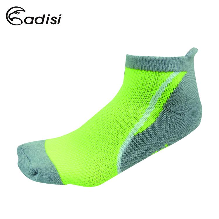 ADISI 螢光運動慢跑襪AS15206 / 城市綠洲(襪子 短襪 運動襪 萊卡纖維)
