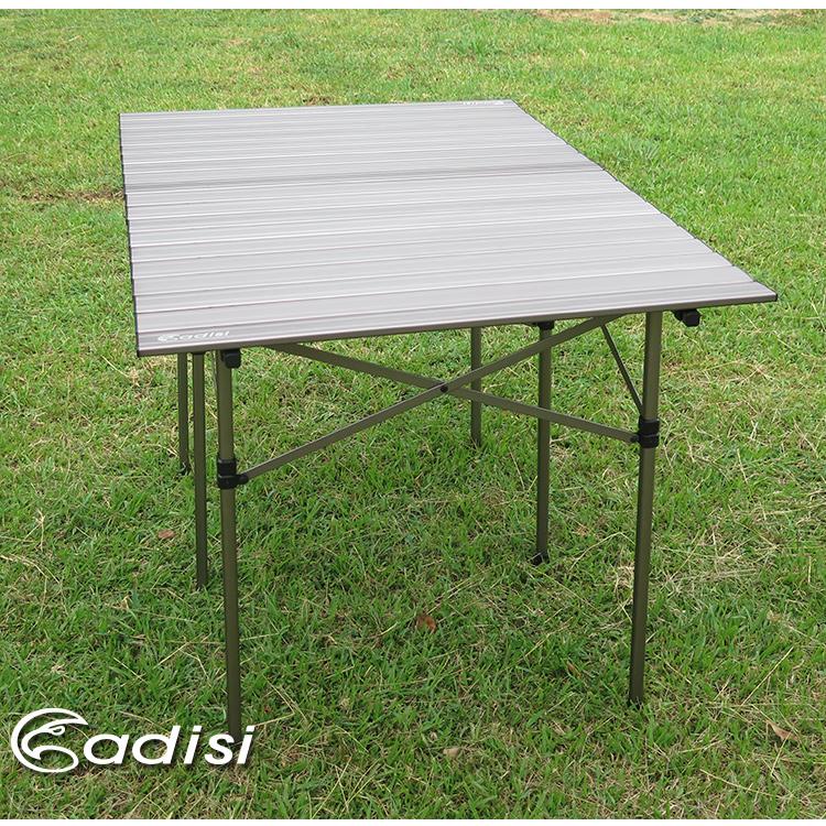 ADISI 六人鋁捲桌AS15076 / 城市綠洲 (鈦色、便攜、戶外露營、輕巧、鋁合金材質)