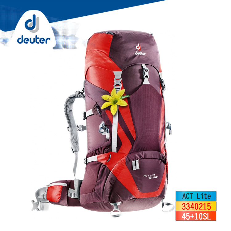 deuter ACT Lite輕量拔熱式透氣背包3340215 ︱45+10L / 城市綠洲 (登山背包 戶外休閒 運動旅遊 德國品牌)