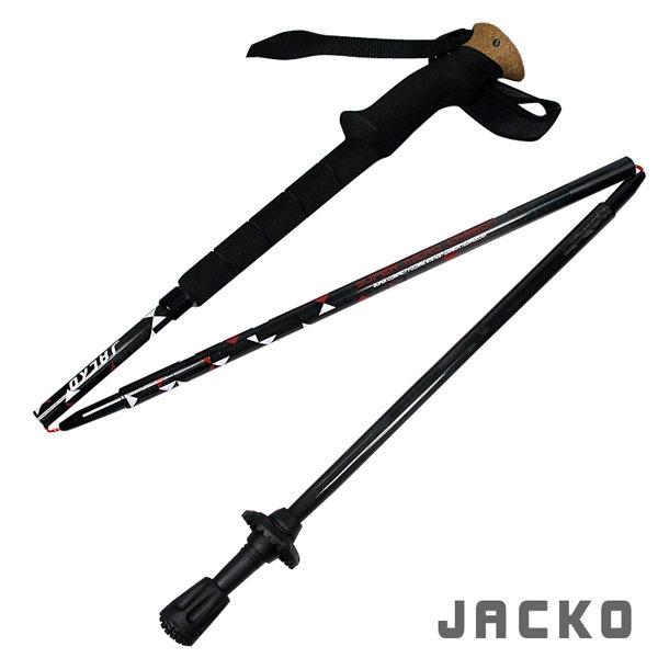 JACKO Super Micro Carbon 登山杖(1入)/城市綠洲(健行.爬山.郊山.台灣製造.T型軟木拐杖.柺杖.手杖)