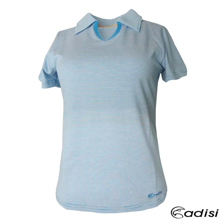 ADISI 女款天絲棉吸濕披領上衣AL1411045/城市綠洲專賣(短袖.吸濕排汗.天然植物纖維)
