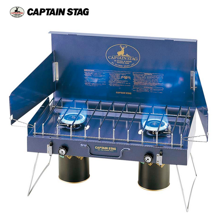 Captain Stag 日本鹿牌 雙口爐 M-8249 / 城市綠洲 (瓦斯爐.快速壚.露營爐具)