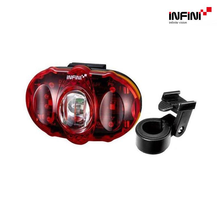 INFINI 3顆LED紅光尾燈 I-406 03905429 / 城市綠洲(單車燈,LED自行車燈,車前燈,車尾燈,腳踏車燈)