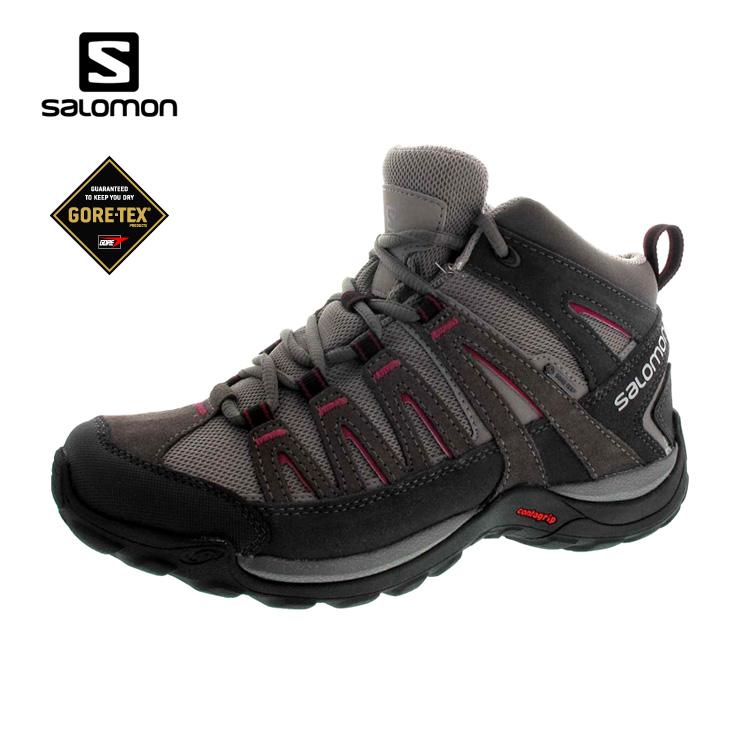 SALOMON 女GTX中筒健行登山鞋373170 / 城市綠洲 (運動鞋、休閒鞋、Sport、Ortholite)
