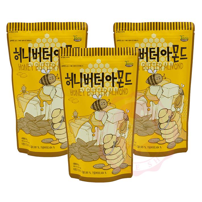 韓國 Toms Gilim 蜂蜜奶油杏仁果 杏仁 堅果 核桃 腰果 進口零食(250g)【庫奇小舖】