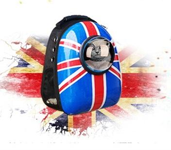 限時特價!!!!最新!!!!英倫風英國國旗 寵物太空艙背包 寵物外出提籠 貓 狗 外出背包 寵物後背包 提籃 提袋 運輸籠 寵物背包 背袋