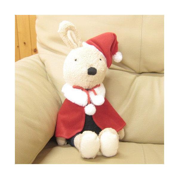 【真愛日本】le sucre la creme法國兔* 14112200067 聖誕限定版L-燈心絨藍褲茶 娃娃 玩偶