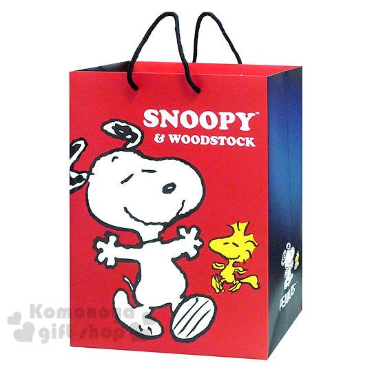 〔小禮堂〕史努比 直式提袋《大.紅.閉眼.張開雙手.糊塗塔克》送禮包裝最方便