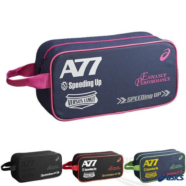 ASICS亞瑟士 A77手提鞋袋(深藍*桃紅) 手提萬用袋 2015新品