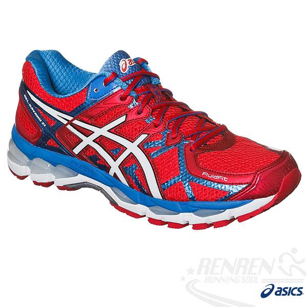 ASICS亞瑟士-GEL-KAYANO 21 男高支撐型慢跑鞋(紅*白*藍)台灣獨家販售國旗配色紀念款。