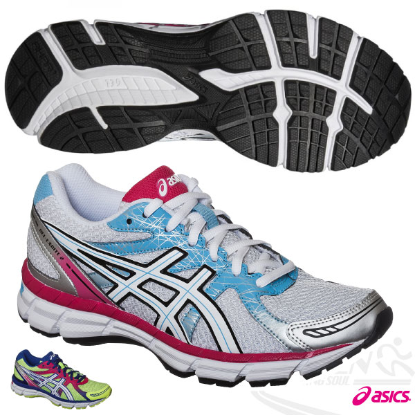 ASICS亞瑟士 女慢跑鞋GEL-OBERON 9健康入門款(白*粉紅*天藍) 2015新品 短里程 緩衝性佳