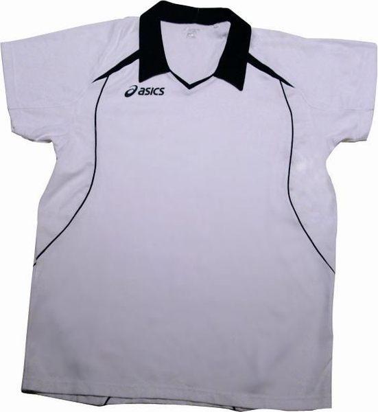 ASICS 亞瑟士 立領排球服(丈青/白) 排汗快乾運動POLO衫 排球衣